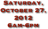 Saturday, October 27, 2012